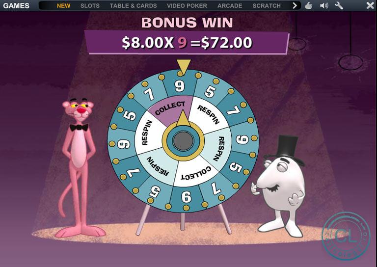 pantera roz bonus win